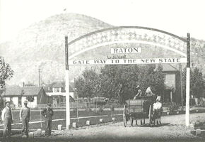Old Glory atop Goat Hill Raton NM - 1911
